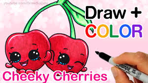 How To Draw Color Shopkins Cheeky Cherries Step By Cute Season 4