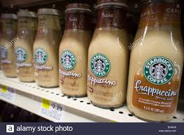 Bottles Of Starbucks Frappuccino Coffee Are Seen A Supermarket On Stock Photo 33899102
