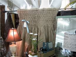Smocked Burlap Curtain Panels by How To Make Smocked Curtains
