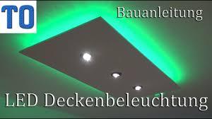 led deckenleuchte selber bauen direktes und indirektes led licht