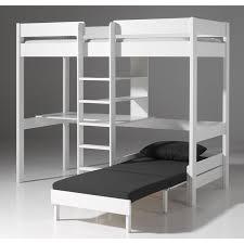 lit mezzanine avec fauteuil pino blanc