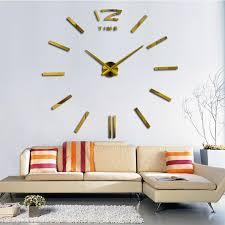 Watch Design 2018 New Home Decor Big Wall Clock Modern Living Room Quartz Metal Decorative Designer Clocks Wooden Kitchen
