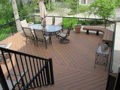 composite deck gray with white slate gray azek deck with a white