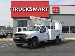 100 Boom Truck 2004 FORD F450 BUCKET BOOM TRUCK FOR SALE 11386