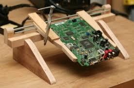 DIY Wooden PCB Clamp