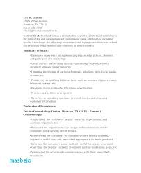 Cosmetology Resume Sample Example Recent Graduate Templates Skills Cosmetologist Student Examples