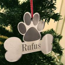 Personalised Christmas Tree Decoration Xmas Bauble Engraved Gift
