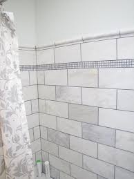 subway tiles in a shower