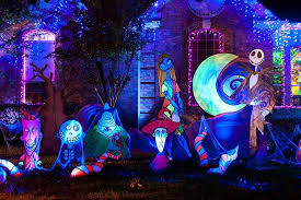 Nightmare Before Christmas Halloween Decorations Diy by Halloween Lights And Decorations Reimagined From Christmas