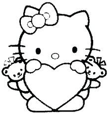 Kitty Cat Christmas Coloring Pages Hello Book To Print Color Girls Colouring For Full Size
