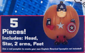 Pumpkin Push Ins by The Avengers Captain America Pumpkin Push Ins In Oman See