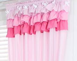 Pink And Purple Ruffle Curtains by Shabby Chic Curtains Etsy