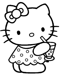 Hello Kitty Cartoon Character Coloring Pages