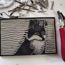 Carving Lino Block Relief Printmaking Tools