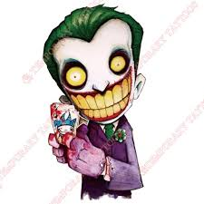 Joker Customize Temporary Tattoos Stickers NO482