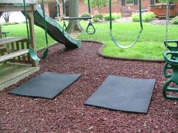 rubber mat swings so you don t wear that mulched area