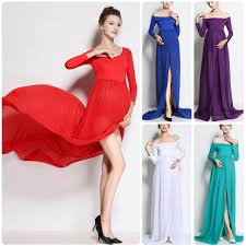 Sexy Gown Maternity Maxi Dress Wedding Party Dresses Pregnant