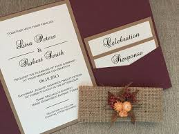 Autumn Rustic Wedding Invitation