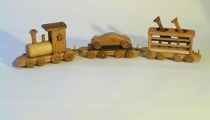 A Handmade Wooden Train Set