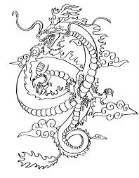 Chinese Dragon Coloring Page Pages For Adults New Year Colouring