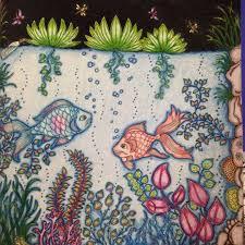 Fish Secret Garden Peixe Jardim Secreto Johanna Basford Adult ColoringColoring BooksColouringJohanna