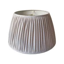 Washer And Spider Fitter Lamp Shade by Gingham Pleated Lamp Shade Gathered Lamp Shade Beige Check