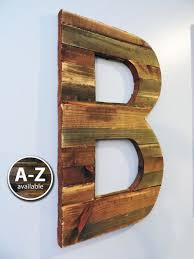 Large Letter Wall Decor 10 Wood Letters Rustic Cutout Custom Wooden