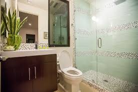 contemporary 3 4 bathroom with frameless showerdoor by paul