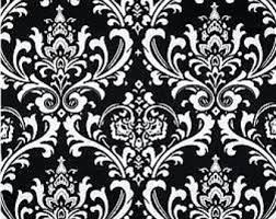 Black And White Flower Shower Curtain by Black Shower Curtain Etsy
