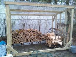 show me your firewood storage shed rack please