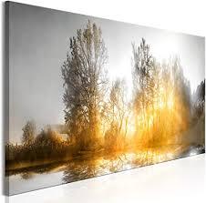 decomonkey bilder landschaft 150x50 cm 1 teilig leinwandbilder bild auf leinwand vlies wandbild kunstdruck wanddeko wand wohnzimmer wanddekoration