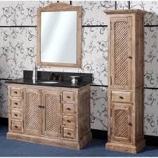 Antique WK Series 48 Inch Rustic Single Sink Bathroom Vanity Natural Oak Finish
