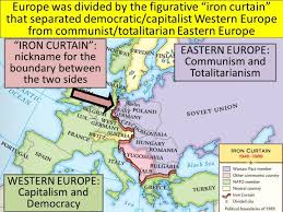 Who Coined The Iron Curtain by How Europe Became Divided By The Iron Curtain Centerfordemocracy Org