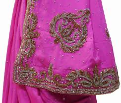 For Dresses Ghagras Sarees Rhyoutubecom Hand Embroidery Saree Designs Beads Work