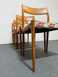 niels otto j l møller esszimmerstühle stuhl chair teak