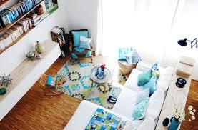 unser wohnzimmer in den farben türkis und grün mit vintage