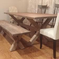 Custom X Base Dining Table Reclaimed Wood Legs By The Urban Co