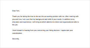 Sample Thank You Letter after Interview Hr Manager