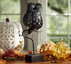 Punched Metal Owl Candleholder