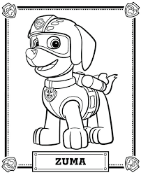 Coloring Pages Paw Patrol Ryder