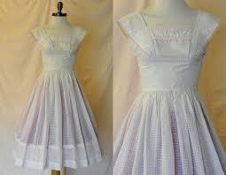 1950 u0027s vintage white summer dress xs retro rockabilly 125 00