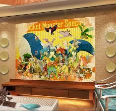 Pokemon Wallpaper 3D Wall Mural Kids Bedroom Japanese Anime Game Room Decor Covering Home