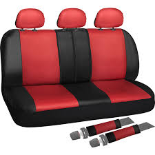 100 Truck Seat Cover Rear Set For Car SUV Split Bench PU Leather 8pc