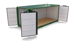 100 Shipping Container Model 20ft Side Open 3D