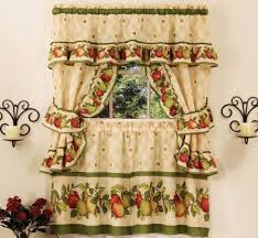 Curtains Red And Yellow Kitchen Decor