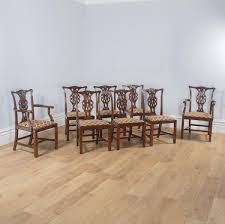 Antique Set Of Eight Georgian Chippendale Style Mahogany Dining ... Tiger Oak Fniture Antique 1900 S Tiger Oak Round Pedestal With Ding Chairs French Gothic Set 6 Wood Leather 4 Victorian Pressed Spindle Back Circa Room 1900s For Sale At Pamono Antique Ding Chairs Of Eight Chippendale Style Mahogany 10 Arts Crafts Seats C1900 Glagow Antiques Atlas Edwardian Queen Anne Revival Table 8 Early Sets 001940s Extendable With Ball Claw Feet Idenfication Guide