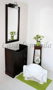 4teiliges massivholz badmöbel set italienische badezimmermöbel