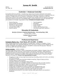 Alluring Sample Finance Controller Resume For Financial Samples Rh Mtcoptics Us Objective Examples