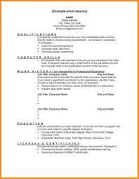 Short Resume Examples 6 Cv Example Mystock Clerk