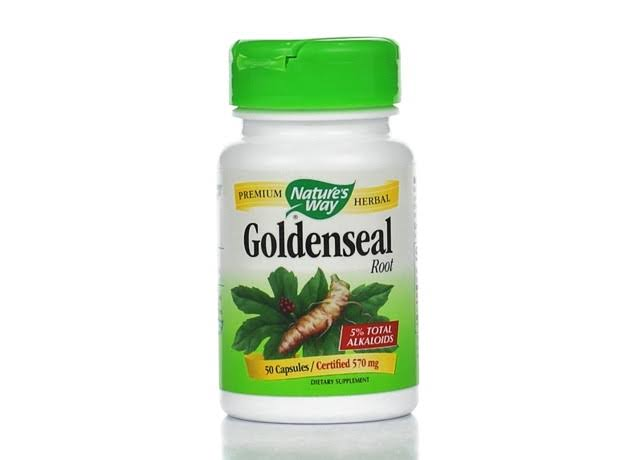 Nature's Way Goldenseal Root - 570mg, 50 Capsules